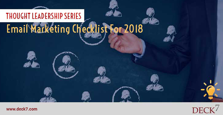 Email Marketing Checklist For 2018