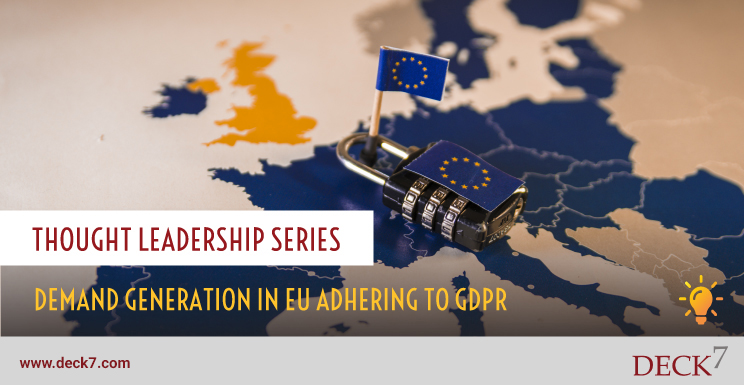 Demand Generation in EU Adhering to GDPR