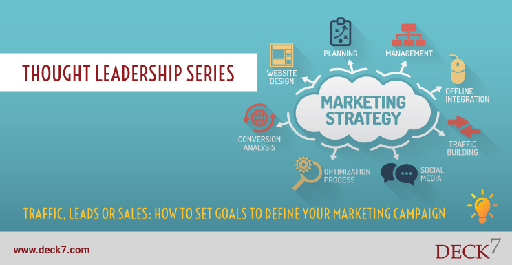 Traffic, Leads or Sales: How to Set Goals to Define your Marketing Campaigns