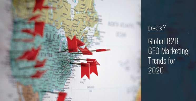 Global B2B Geomarketing Trends for 2020