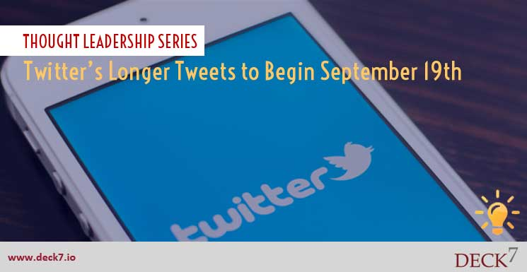 Twitter's Longer Tweets to Begin September 19th