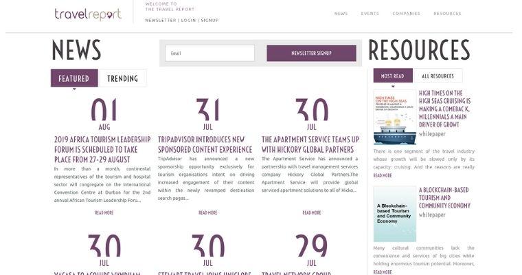 travel.report media channel website