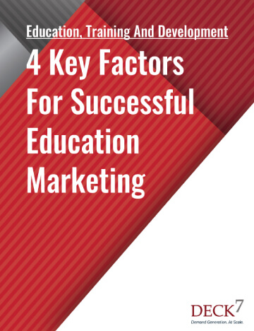 4 Key Factors For Successful Education Marketing Mobile View