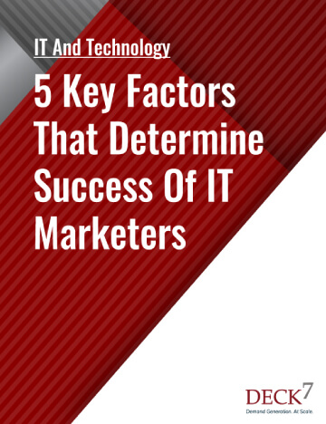 5 Key Factors That Determine Success Of It Marketers Mobile View